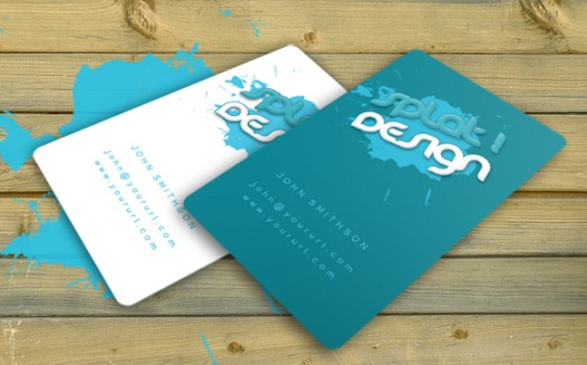 Splat Business Card with PSD. by robbythedesigner