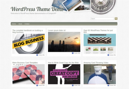 Fliphoto Photoblog Theme by simplywp