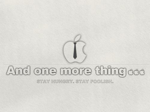 Grey Apple Desktop Wallpaper