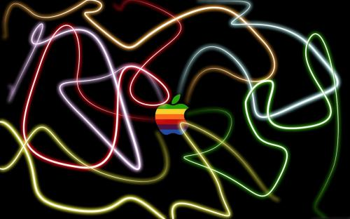 Light Graffiti Apple Desktop Wallpaper