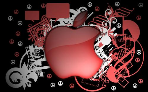 Red Apple Peace Wallpaper