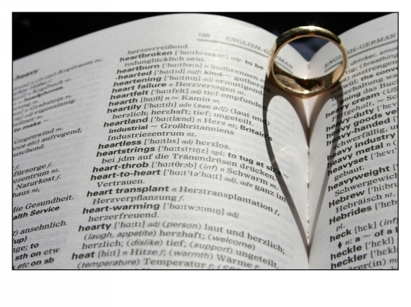 Book Ring Heart