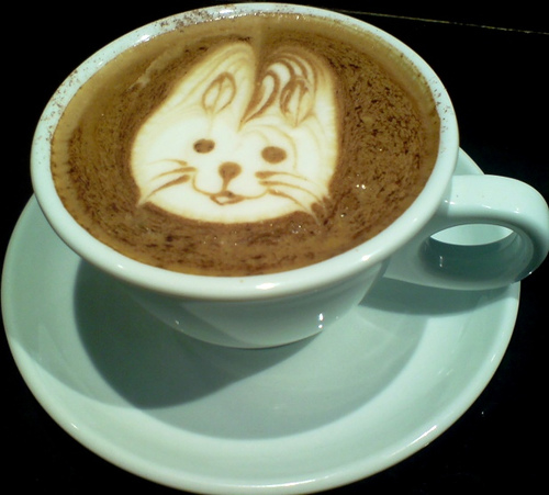 Latte fun with my daughter