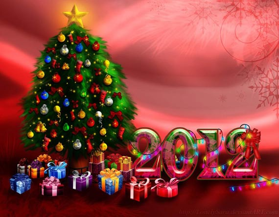 Merry Christmas and Happy New Year 45 Fantastic New Year 2012 Wallpapers
