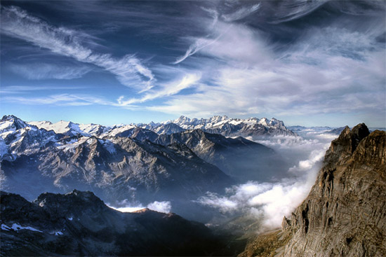 dazz A Day on The Top of Mount Titlis Wonderland Landscape Photography Never Seen Before
