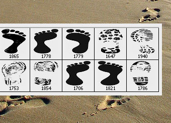 Footprints Inspirational Collection and Download Photoshop Brushes - Designing Mall