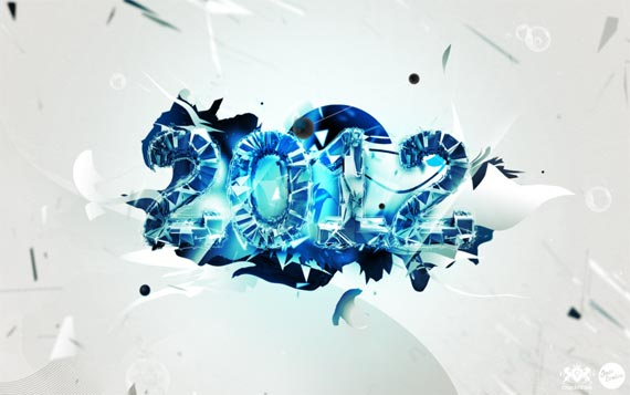 happy new year 2012 wallpaper 2 45 Fantastic New Year 2012 Wallpapers