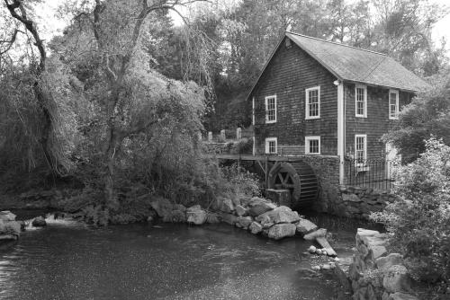 Grist Mill in Black & White