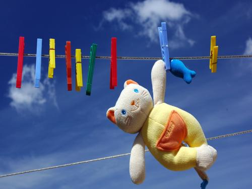 Hello Kitty Doll Drying