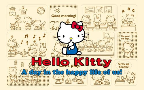 Hello Kitty Happy Life wallpaper