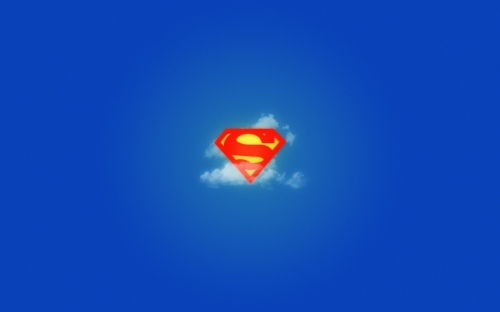 Superman In The Clouds