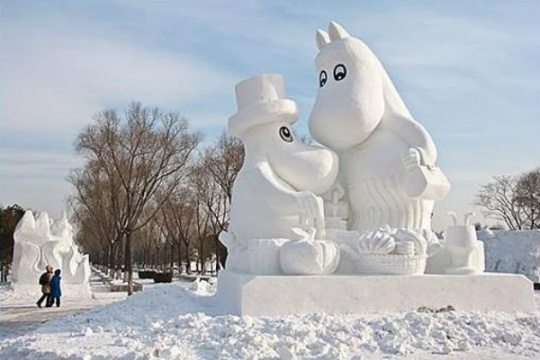 Incredible Images from China's Giant Snow Sculpture Festival