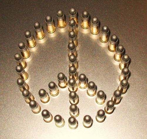 Bullets Peace Sign