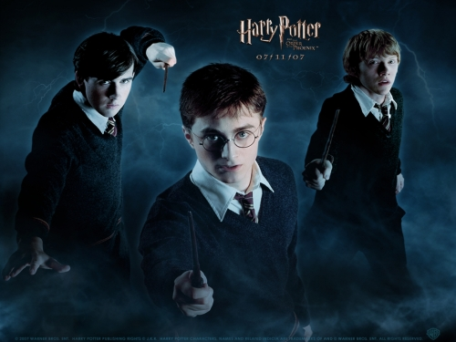 Harry, Ron and Neville