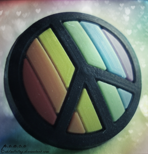 Rubber Peace Sign
