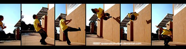 Wall Full Sequence by SpAzZnaticShuRIken 55 Amazing Examples of Sequence Photography