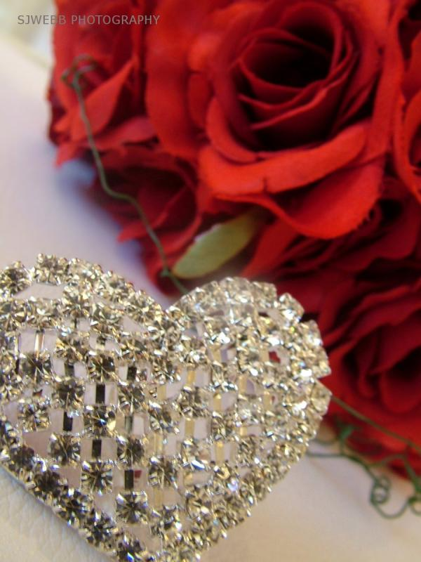 Heart Broach And Bridal Rose