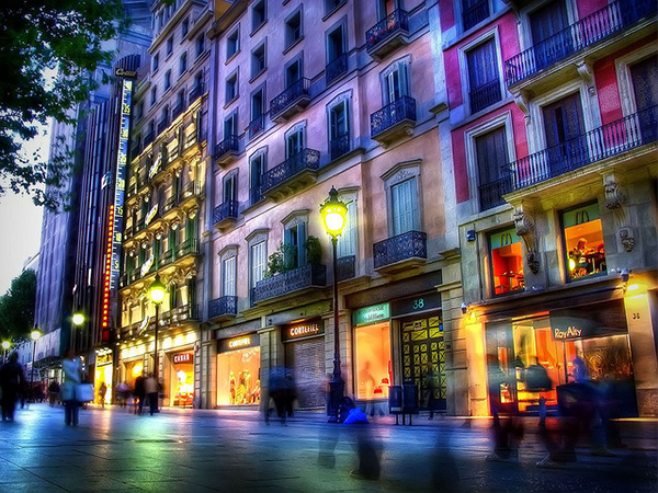 Barcelona street in Collection of Fascinating Barcelona Photographs