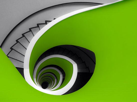 Elliptical stairs Architecture Photography