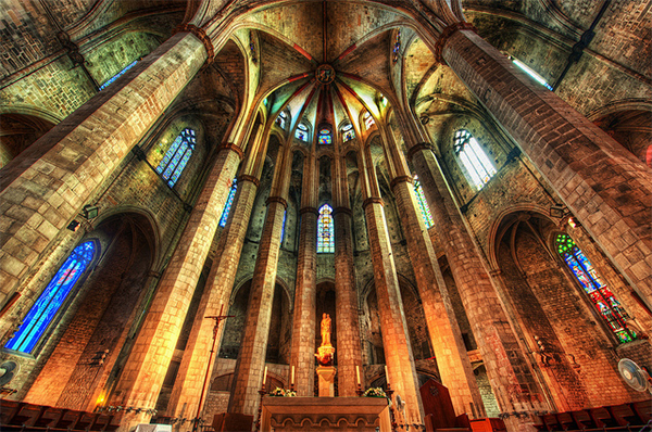 The Sanctum of Santa María del Mar Cathedral in Collection of Fascinating Barcelona Photographs