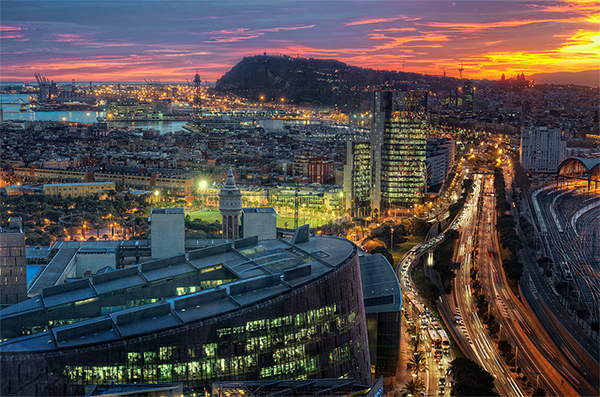 View – Vista de Barcelona (Spain), HDR in Collection of Fascinating Barcelona Photographs