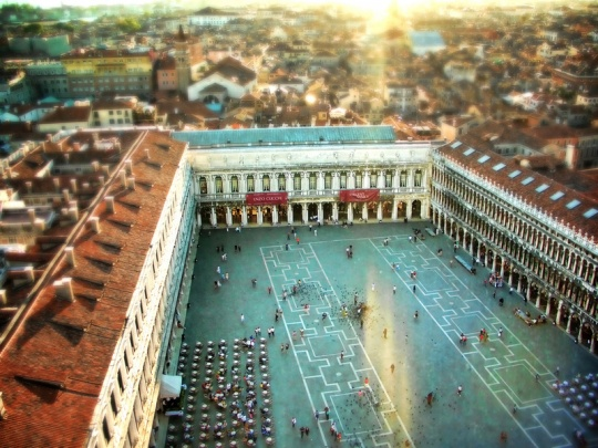 St Marks Square from above