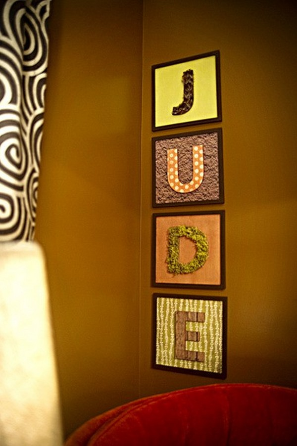 letters indoors 16 30 Creative Ways of Bringing Letters and Words Into Your Home
