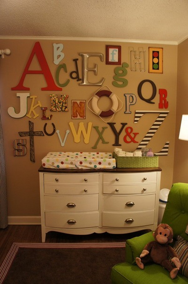 letters indoors 22 30 Creative Ways of Bringing Letters and Words Into Your Home