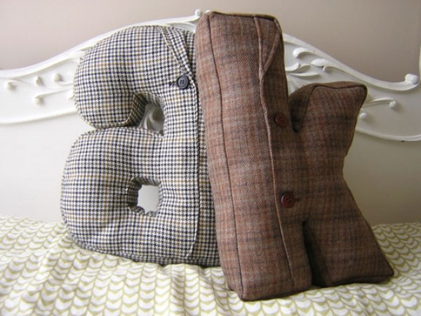 literary  bed pillows e1292670977753 30 Creative Ways of Bringing Letters and Words Into Your Home