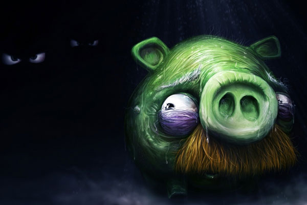 Angry Birds Alone Pig wallpaper