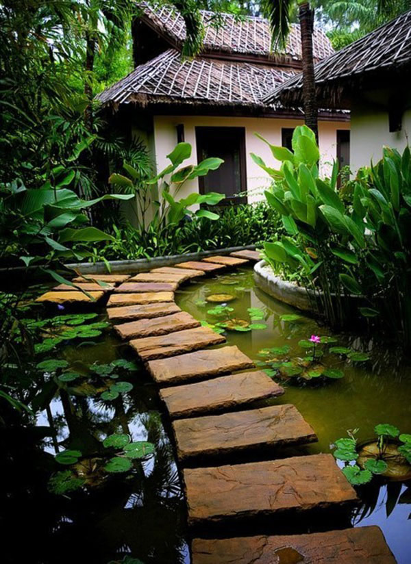 water walkway 35 Lovely Pathways for a Well Organized Home and Garden