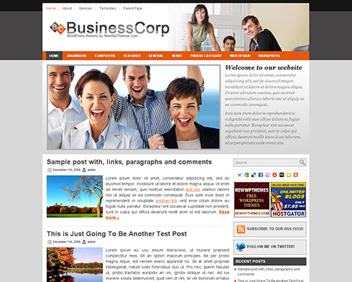 wp business theme businesscorp Clean and Clear Fresh WordPress Business Themes