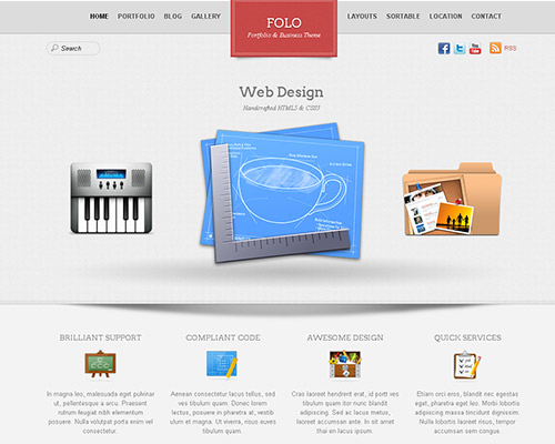 wp business theme folo Clean and Clear Fresh WordPress Business Themes