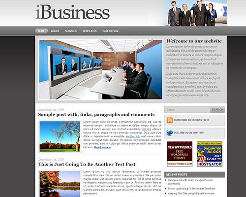 wp business theme ibusiness Clean and Clear Fresh WordPress Business Themes