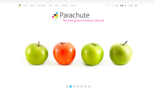 wp business theme parachute Clean and Clear Fresh WordPress Business Themes