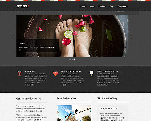 wp business theme swatch Clean and Clear Fresh WordPress Business Themes