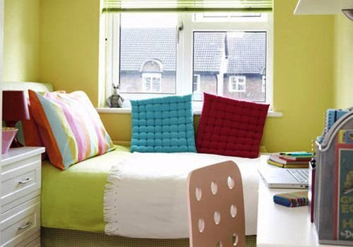 Sober And Colorful Bedroom