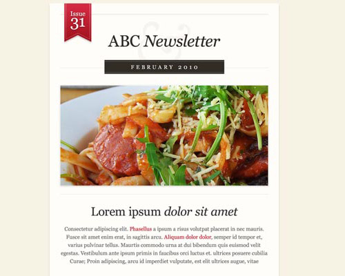 email template free abc newsletter Free Email Templates for Quick and Effective Response