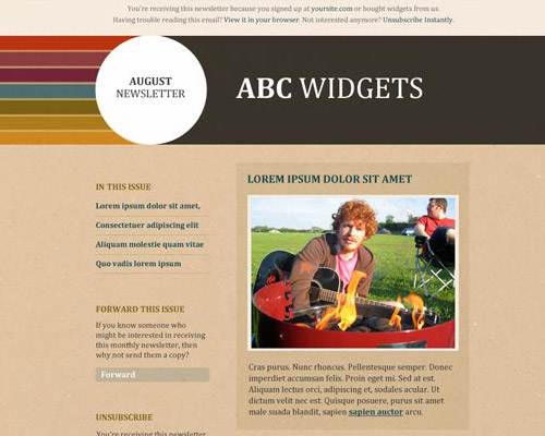 email template free abc widgets2 Free Email Templates for Quick and Effective Response