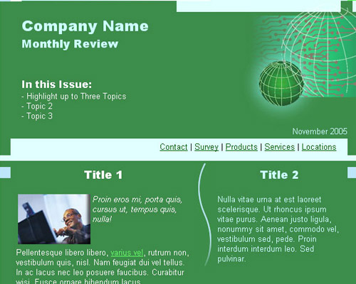 email template free green Free Email Templates for Quick and Effective Response