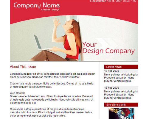 email template free red Free Email Templates for Quick and Effective Response