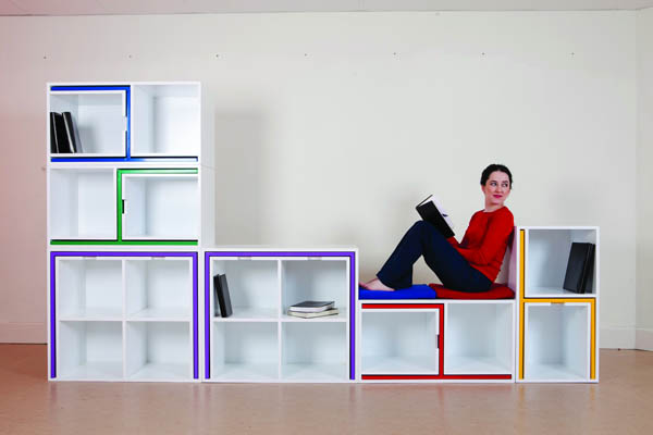 Smart space saving furniture by Orla Reynolds 1 Taking The Dining Chairs And Table Out Of The Bookcase