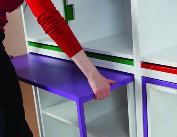 Smart space saving furniture by Orla Reynolds 3 Taking The Dining Chairs And Table Out Of The Bookcase