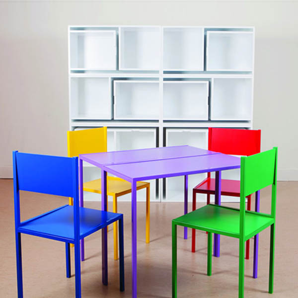 Smart space saving furniture by Orla Reynolds 4 Taking The Dining Chairs And Table Out Of The Bookcase