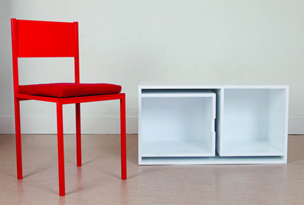 Smart space saving furniture by Orla Reynolds 5 Taking The Dining Chairs And Table Out Of The Bookcase
