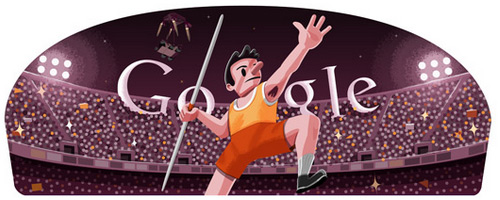 doodle javelin 2012 Fresh Doodles Covering the Olympics 2012 by Google