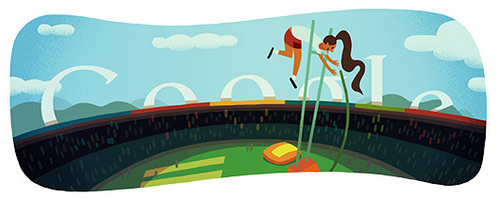 doodle pole vault 2012 Fresh Doodles Covering the Olympics 2012 by Google