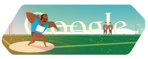 doodle shot put Fresh Doodles Covering the Olympics 2012 by Google