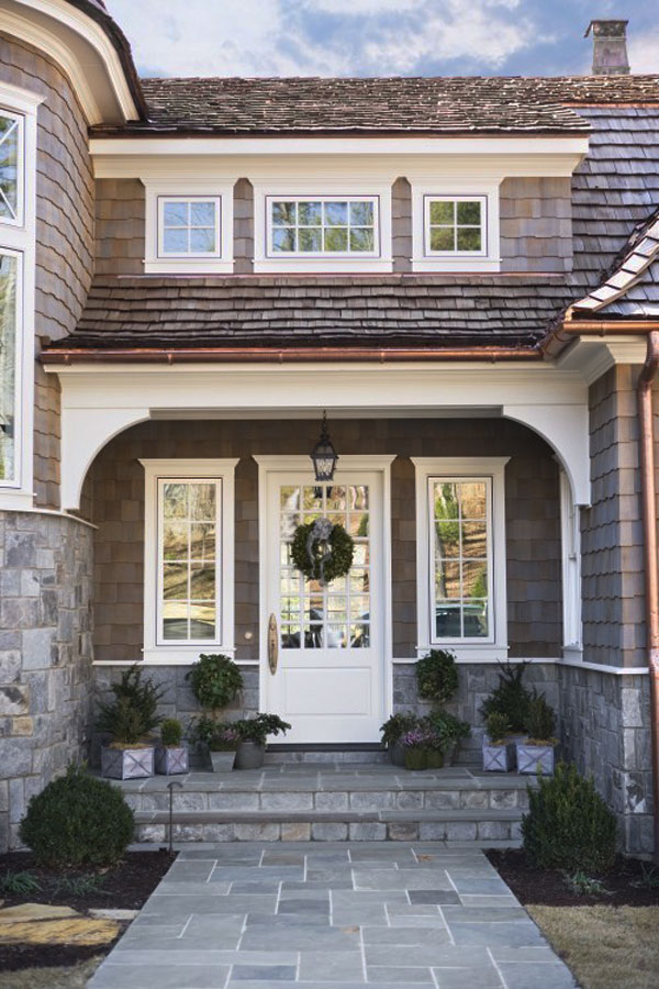 front home entrance 30 Inspiring Front Door Designs Hinting Towards a Happy Home