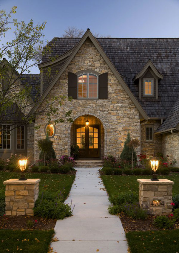 house entrance 30 Inspiring Front Door Designs Hinting Towards a Happy Home
